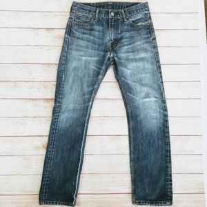 Levis 513 Straight Distressed Faded Jeans 30x30